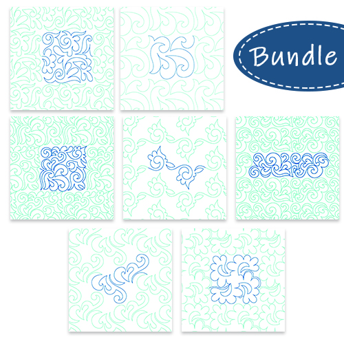 Sketched Edge to Edge Bundle | Quiltable