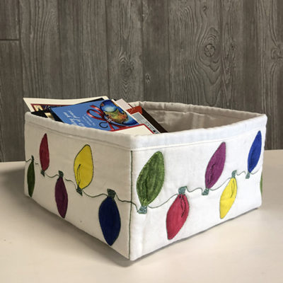 Holiday Lights Bin | Quiltable | Cathie Zimmerman