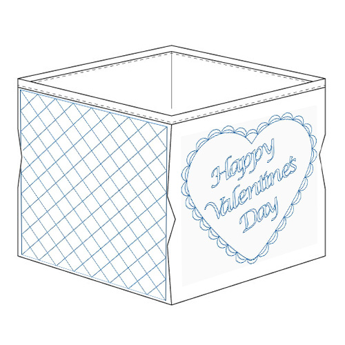 Valentine Bin PROJECT | Quiltable | Cathie Zimmerman
