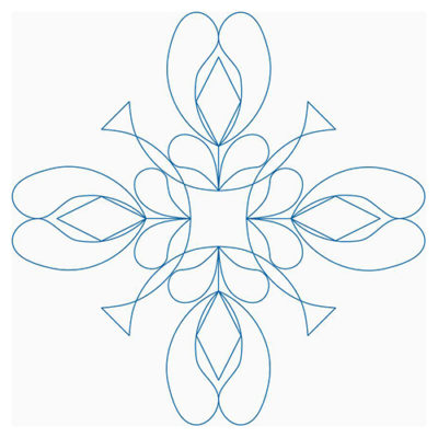 French Feather Flower Block 2 | Quiltable | Linda Gosselin