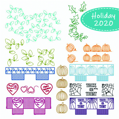 October 2020 Holiday Set | Quiltable