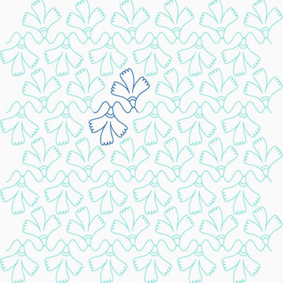 Whimsy Bloom Border | Quiltable | Cathie Zimmerman