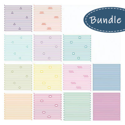 "Line Fills 13-Piece Set 12"" x 12"" 