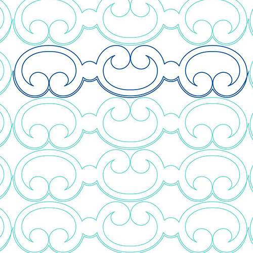 Iron Works Linear Border | Quiltable | Jen Eskridge