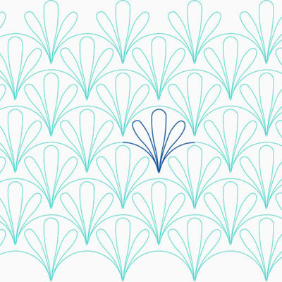Three-Feather Clam by Lady Jane Quilting | Quiltable