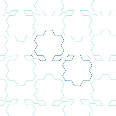 Hexagon Flowers Edge to Edge Design 5 | Quiltable | Jen Eskridge
