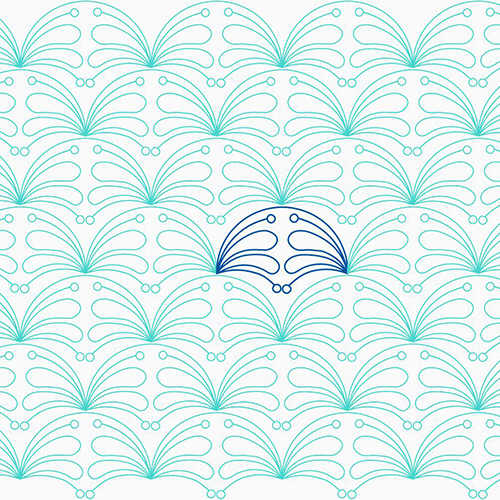 Double-Feather Clam by Lady Jane Quilting | Quiltable