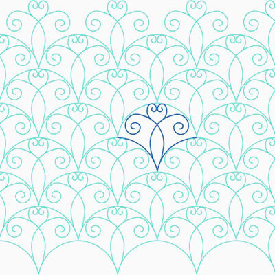 Heart Swirl Clam by Lady Jane Quilting | Quiltable