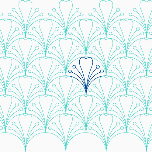 Leaf and Pistils Clam by Lady Jane Quilting | Quiltable