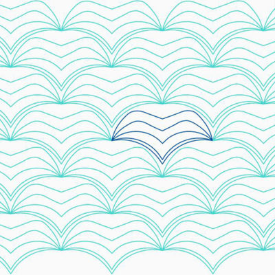 Undulation Clam by Lady Jane Quilting | Quiltable