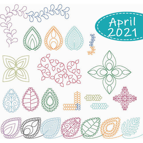 April Club Set: Curly Leaves and Vines 25-Pieces