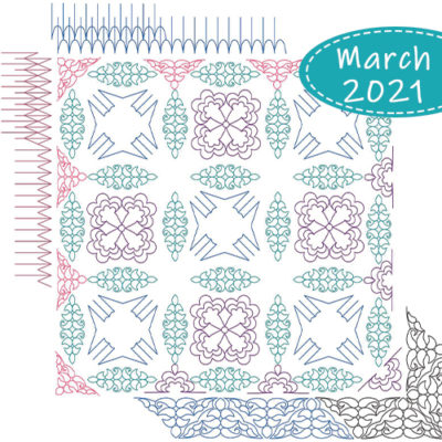 March Club Set 2021: Crazy Carnival | Jen Eskridge | Quiltable