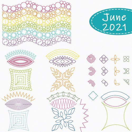 June 2021 Club | Rings and Things | Double Wedding Ring | Quiltabe
