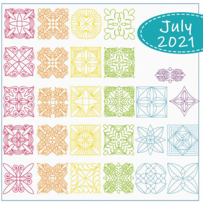 July 2021 Club: Tres Chic | 40-Piece Collection | Quiltable
