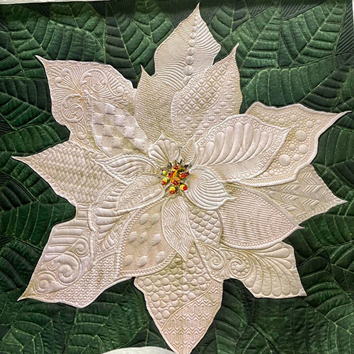 Multifarious Dream Big Holiday Poinsettia Project   A Bit Orange   Quiltable